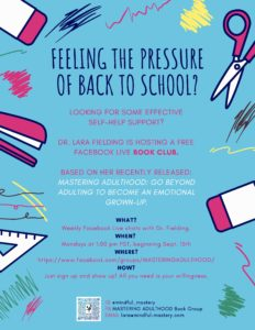 MASTERING ADULTHOOD: Back to School Book Club